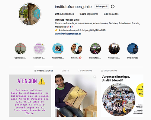 ¡Instituto Francés de Chile está en Instagram!