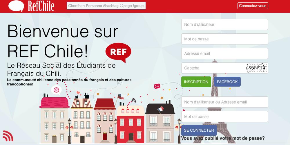 Découvrez REFCHILE, le réseau social des étudiants et professeurs de français au Chili!
