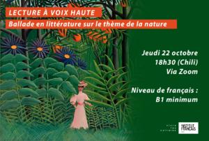 Lecture à voix haute : ballade en littérature sur le thème de la nature