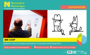 """Novembre numérique: ¡Descubre la original exposición """"Mr.Chip"""" en realidad aumentada!"""