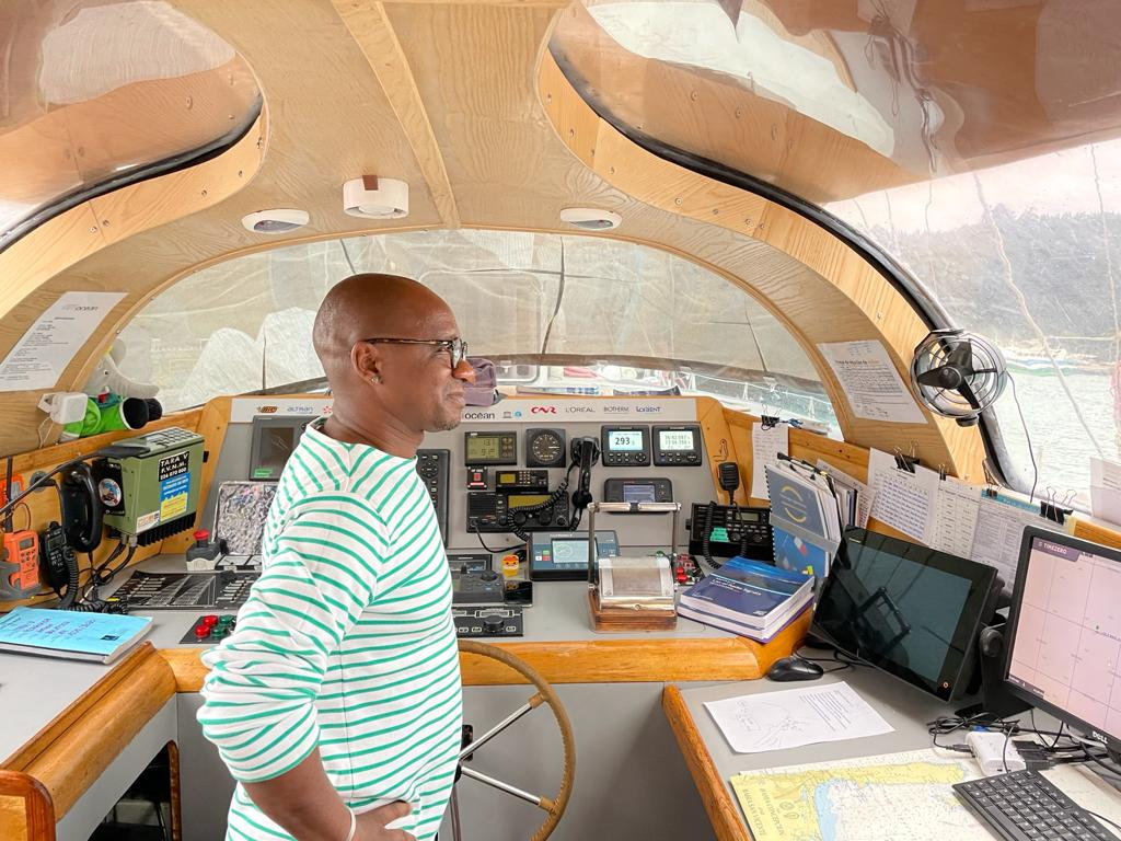 Residencia del escritor Wilfried N'Sondé a bordo de la goeleta Tara